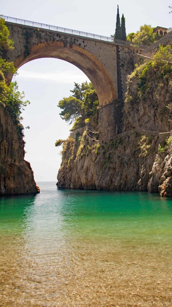 Furore Fjord at the Breath-taking Amalfi Coast, Campania