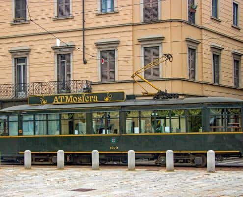 Historic Tram with Dinner service in Milan