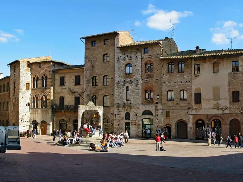 San Gimignano with its medieval city center in Tuscany