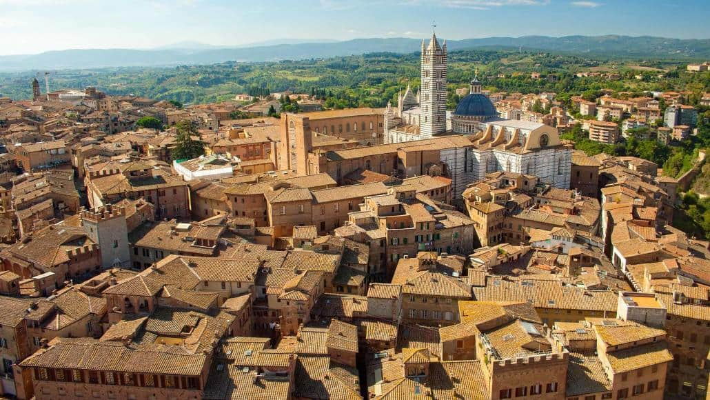 Siena the famous town in Tuscany for horse racing, the Palio di Siena