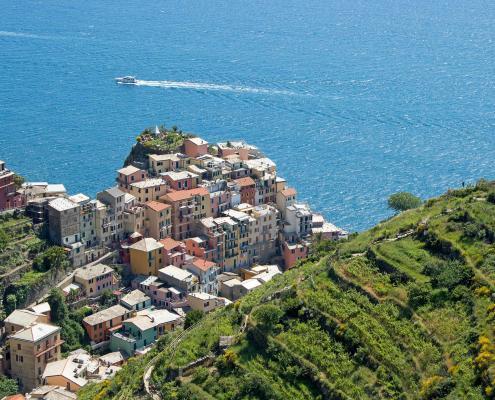 Cinque Terre Wanderweg nach Manarola