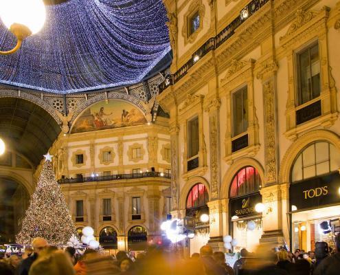 Christmas Time in Milan Vittorio Emanuele Gallery