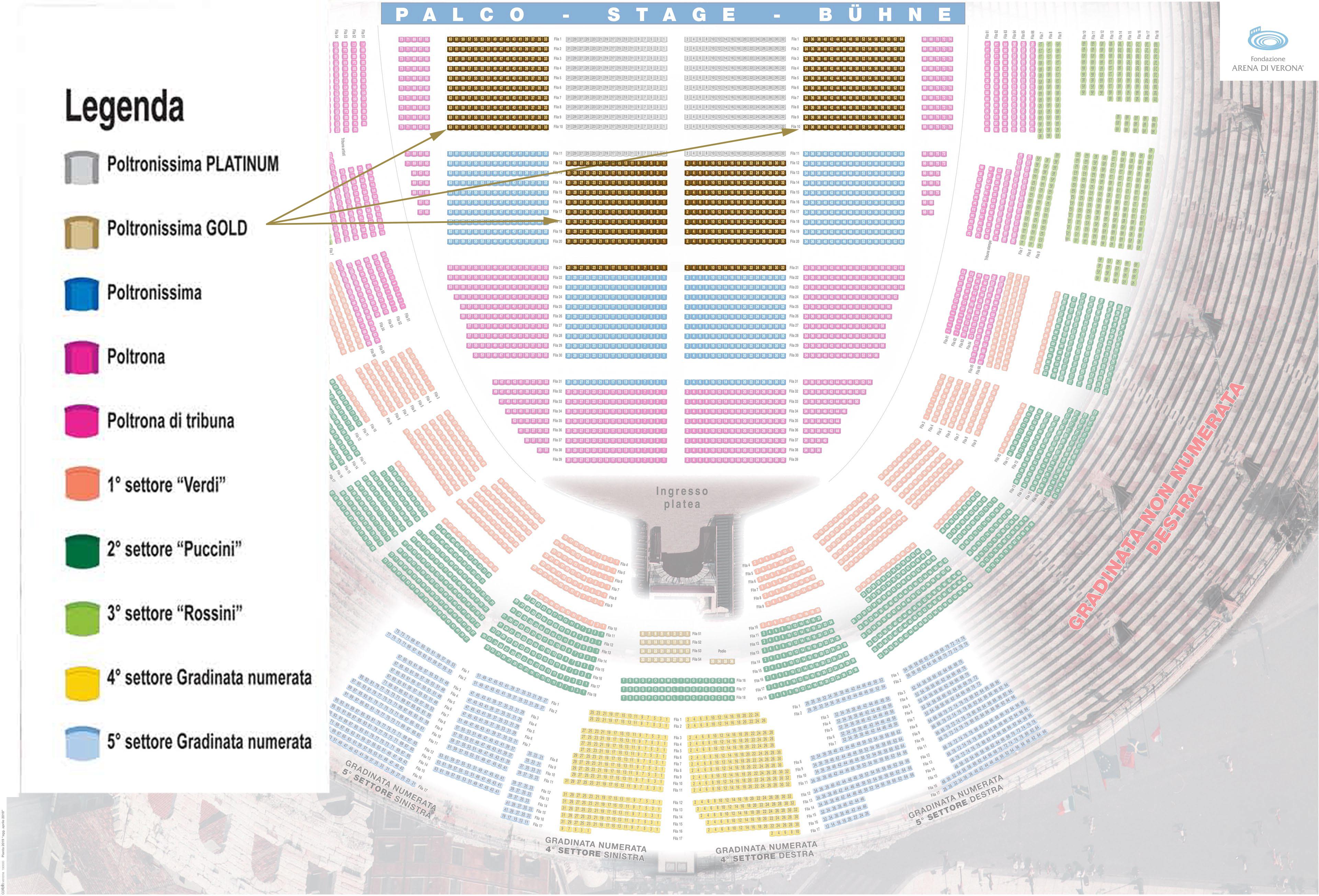 Arena Verona Seat Map
