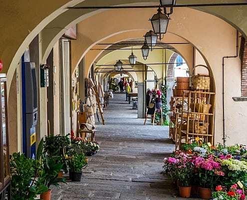 Straßen von Greve in Chianti in der Toskana