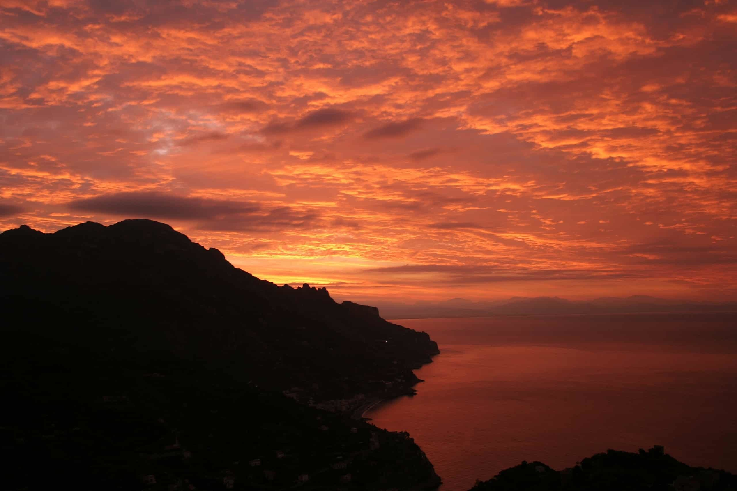 Sunrise at Ravello Dawn Concert in August