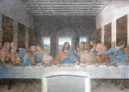The Last Supper by Leonardo da Vinci in the refectory of the Church of Santa Maria delle Grazie
