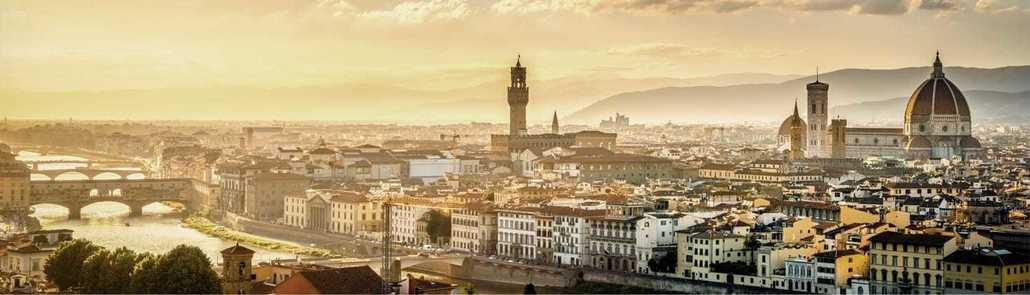 Florence, the capital of Tuscany on the Arno River